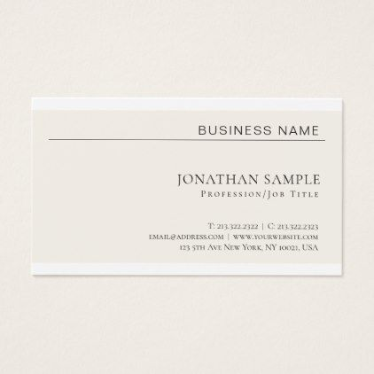 Modern Creative Minimalist Professional Plain Business Card   Architect  Gifts Architects Business Diy Unique Create Your