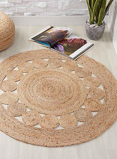 Braided jute rug 120 cm round