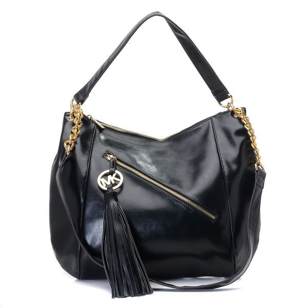 e322bea77e90 Michael Kors Charm Tassel Convertible Shoulder Bag Black Python Products  Description * Black leather. * Golden hardware. * Top handle with rings.
