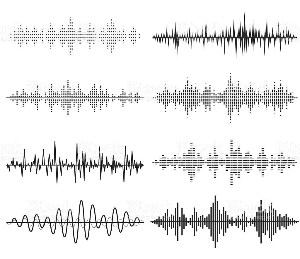 Black music sound waves  Audio technology, musical pulse