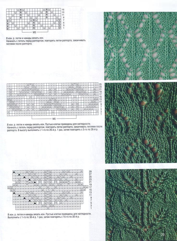 Lacy cable pattern   puntos de ganchillo   Pinterest   Tejido, Dos ...