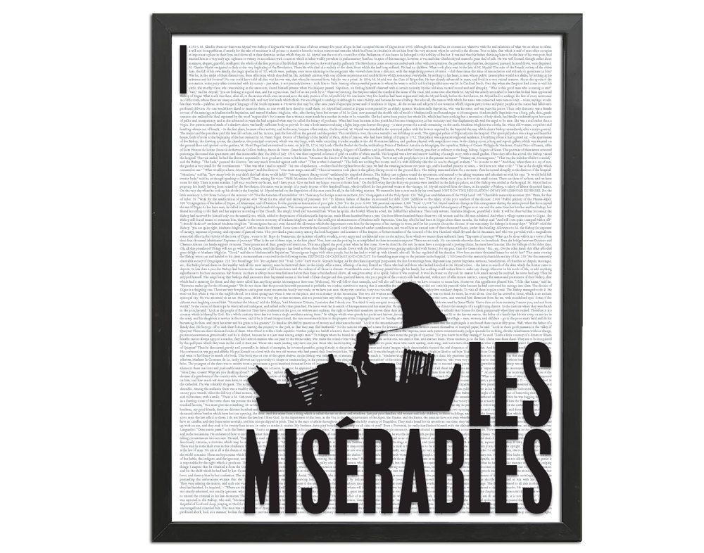 Les miserables by victor hugo art print poster by
