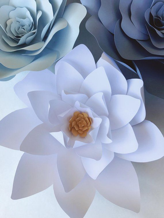 Paper Flower Templates Include Video Instructions Diy Paper