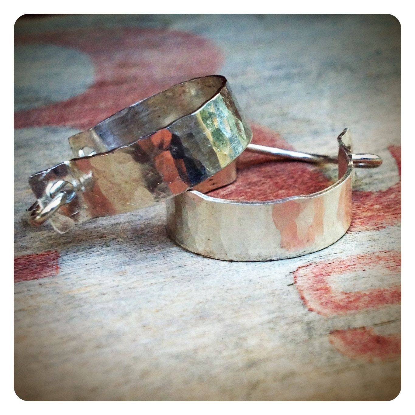 Pre Order  sterling silver hammered hoops by jenjems on Etsy, $28.00