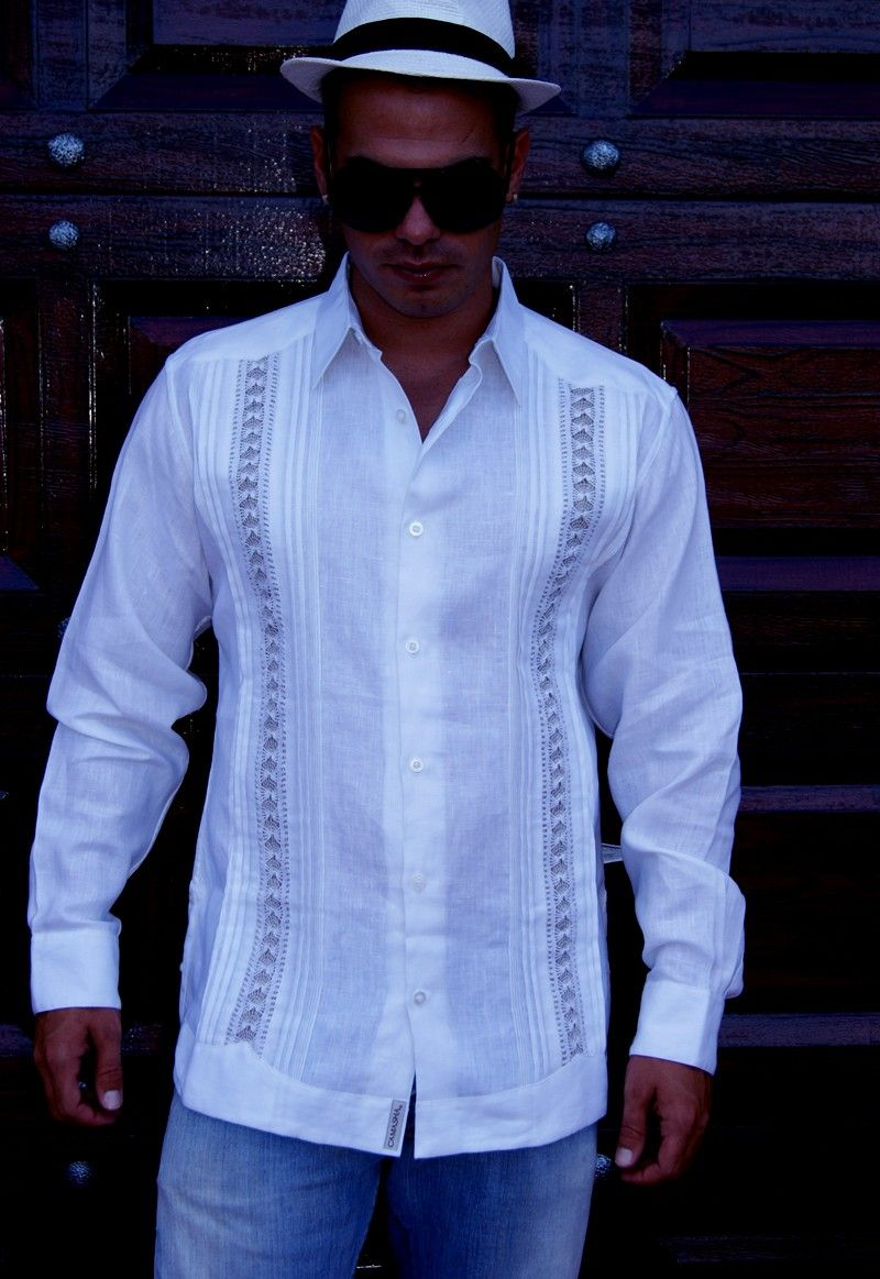 Exquisite Guayabera for Wedding. Hand Craft - Best quality. Only us in MIAMI. - Premium Hight Quality Italian Linen Guayabera. Guayabera style. Mexican tucks. These Mexican wedding shirts are long sleeves with French Button cuff, DO NOT come with cuff links. Cuff Links available in this web. Dry Clean for best result. A classic an sublimely soft Linen 100 %. Availability is subject to change Manufacture in Mexico Hand Craft Guayabera Style. Italian Linen Guayabera for wedding. Wedding Guay…