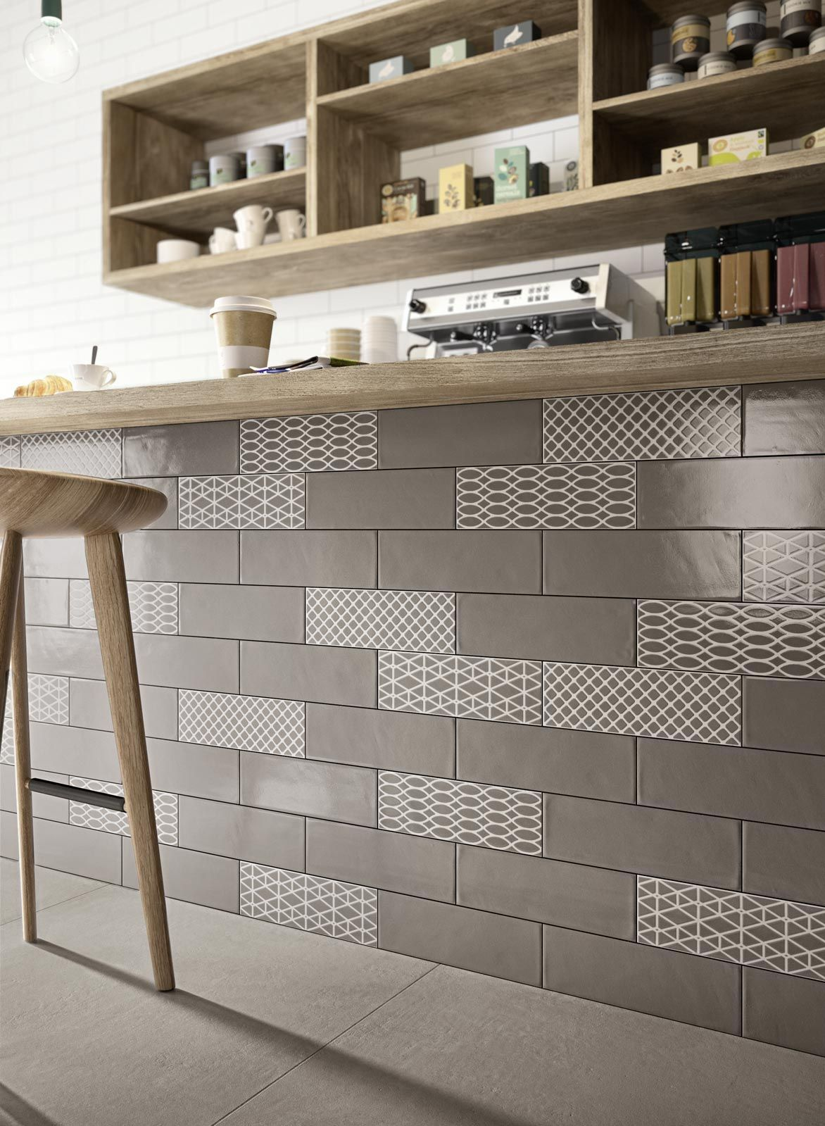 Brick Glossy Wall Coverings Tiles For Kitchen And Bathroom