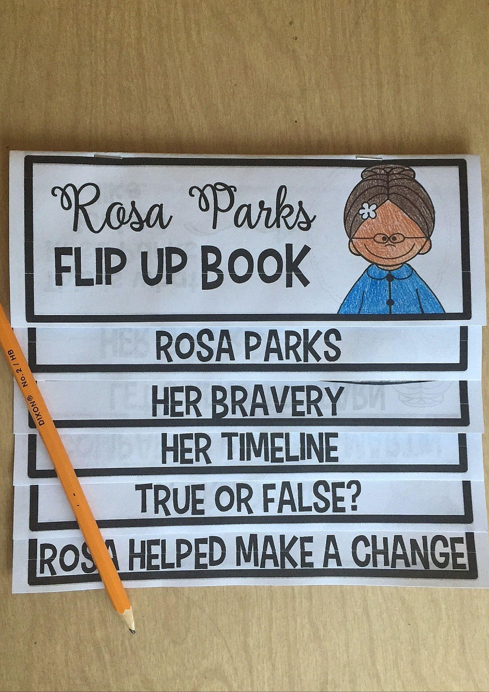 Rosa Parks Flip Up Book
