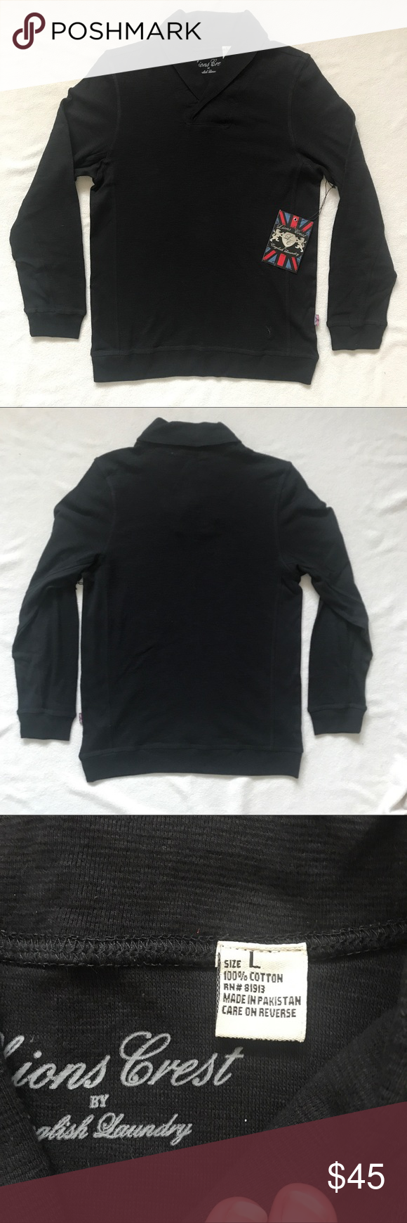 Lions Crest By English Laundry Pullover Lions Crest By English