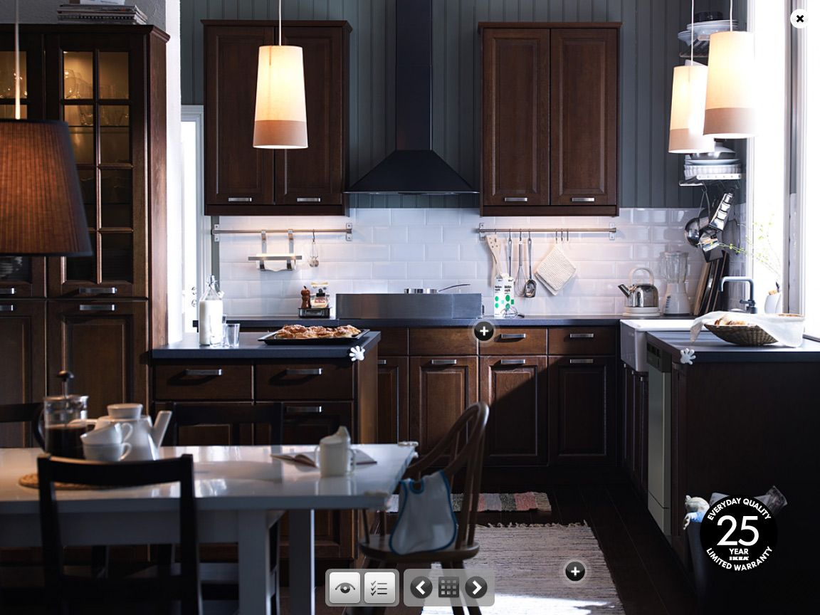 Love These Cabinets I Am Really Into The Dark Chocolate Stain Amusing Dark Wood Cabinets Kitchen Design Decorating Design