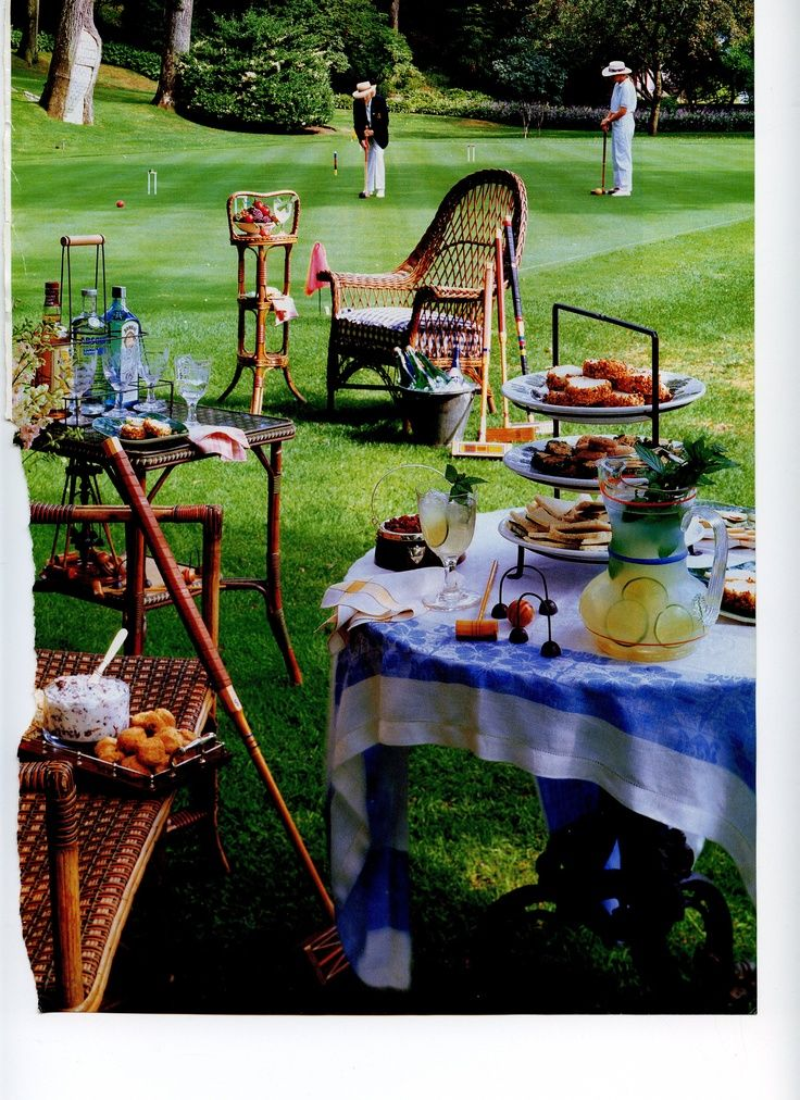 Peachy Wicker Chairs And Crochet Wedding In 2019 Croquet Party Interior Design Ideas Pimpapslepicentreinfo
