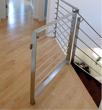 Custom Modern Staircase Gate Via Atticmag