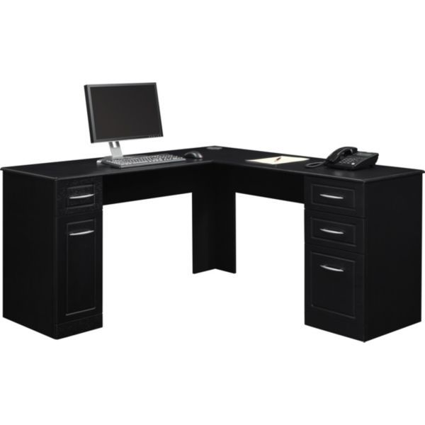 simplebut i like Black LShape Desk for the office