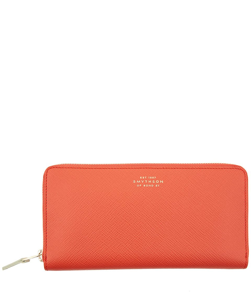 Smythson Large Coral Slim Zip-Around Wallet   Accessories by Smythson   Liberty.co.uk
