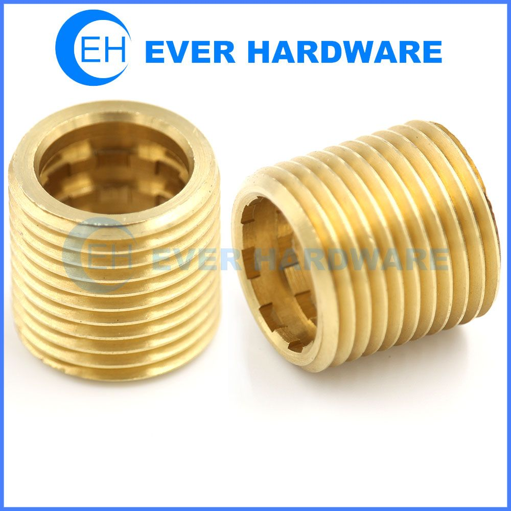 Threaded Sleeve Nut Copper Bolt Thread Dowel Self Locking Outside Bolt Threads Bolt Copper