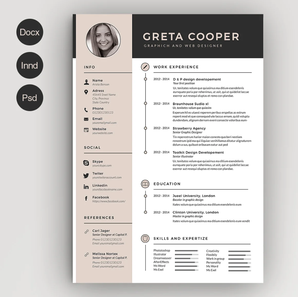 50 Creative Resume Templates You Won T Believe Are Microsoft Word Creative Resume Templates Creative Cv Creative Cv Template