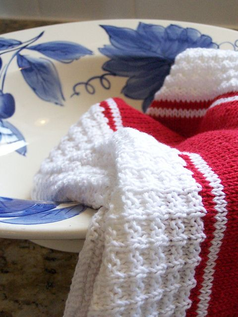 Ravelry: French Stripe Tea Towel pattern by Megan Delorme | Knitting ...