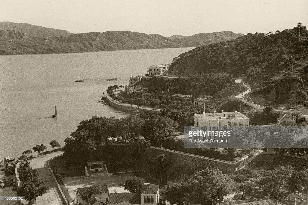 A coast line of Macau from the Penha Hill circa 1941 in Macau.