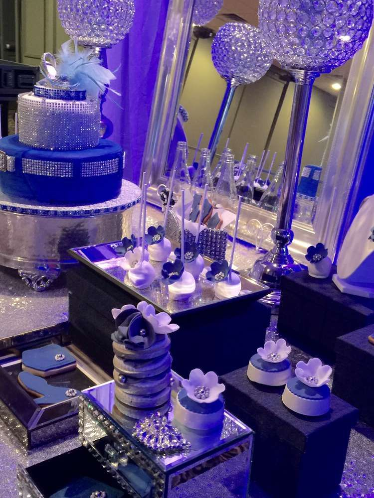 Diamonds and denim birthday party ideas birthday party for Denim centerpieces