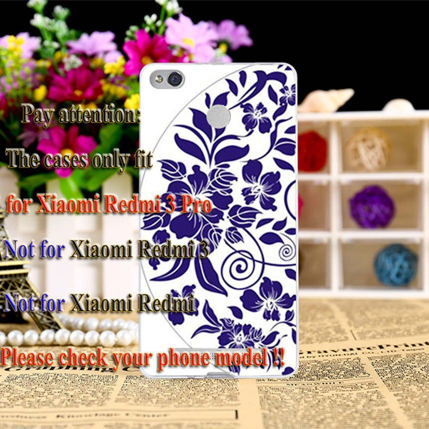 Rose Peony Flower Phone Case For Xiaomi Redmi 3S 3X Redmi 3 Pro Redmi 3S Pro Covers Redmi3 Pro Bag Covers Soft TPU Hard PC Shell