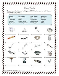 Kitchen tools and utensils for classroom kitchen utensils kitchen tools and utensils for classroom kitchen utensils worksheet free esl printable worksheets made by fandeluxe Choice Image