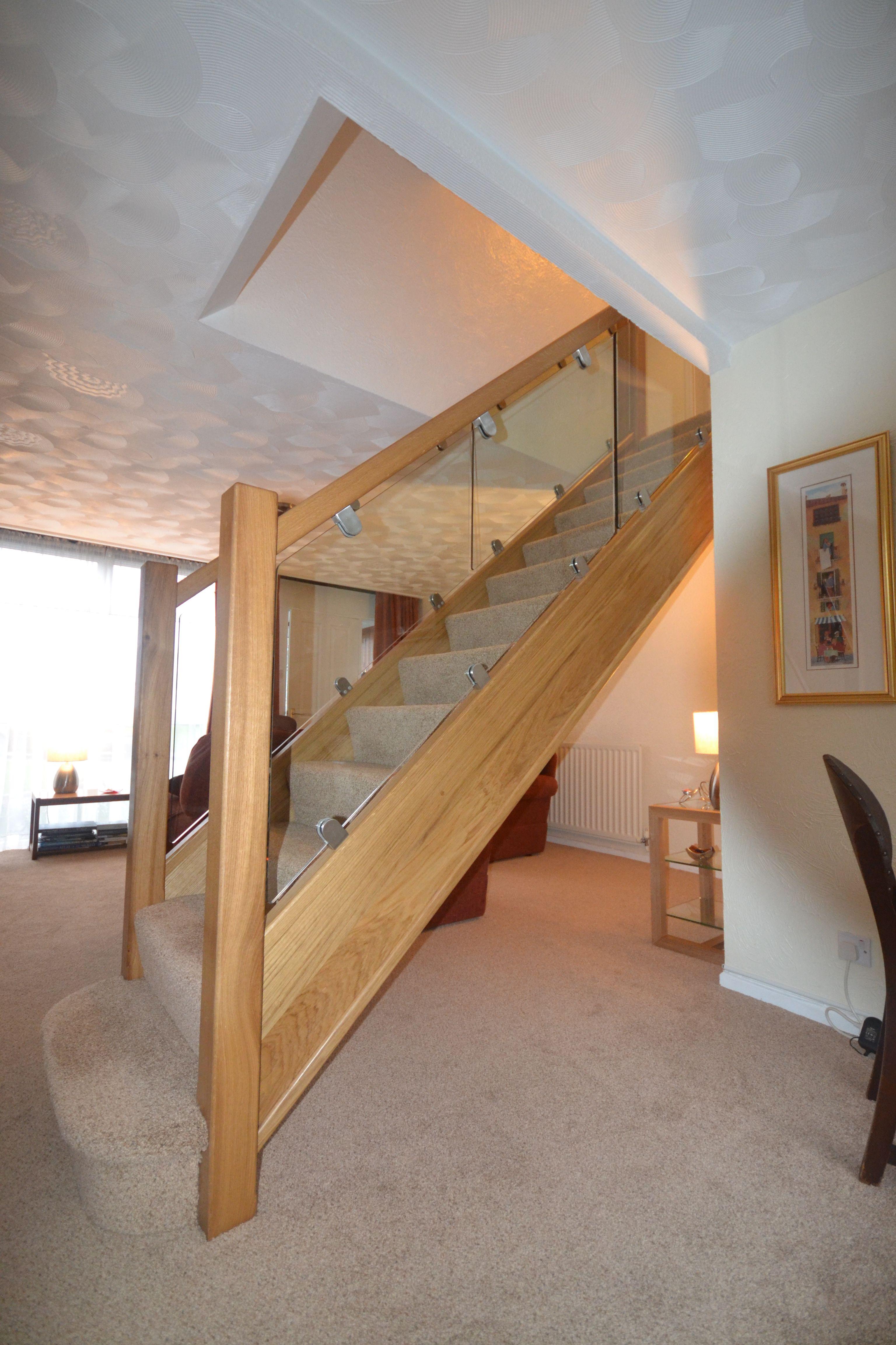 Gable end window ideas  bespoke oak staircase  light shade of oak to keep the space nice