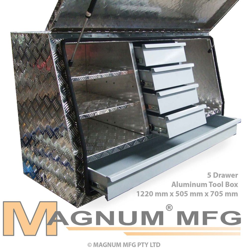 Details about 1220x505x705mm Heavy Duty Aluminium Toolbox