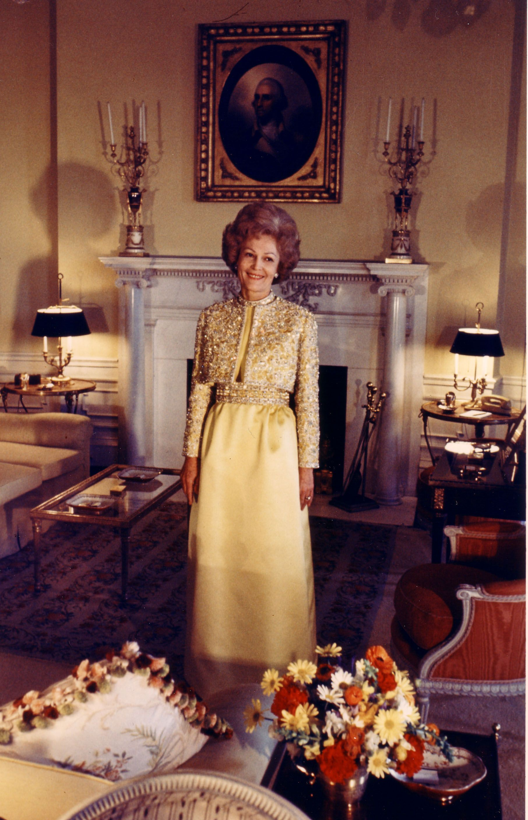 1969 Inaugural Gown By American Fashion Designer Harvey Berin