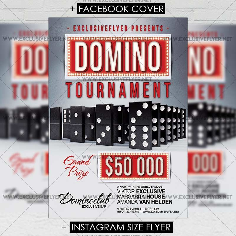 Domino Tournament - Premium A5 Flyer Template    www - product flyer