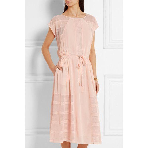 Paul & Joe Mesh-paneled silk crepe de chine midi dress, Women's, Size