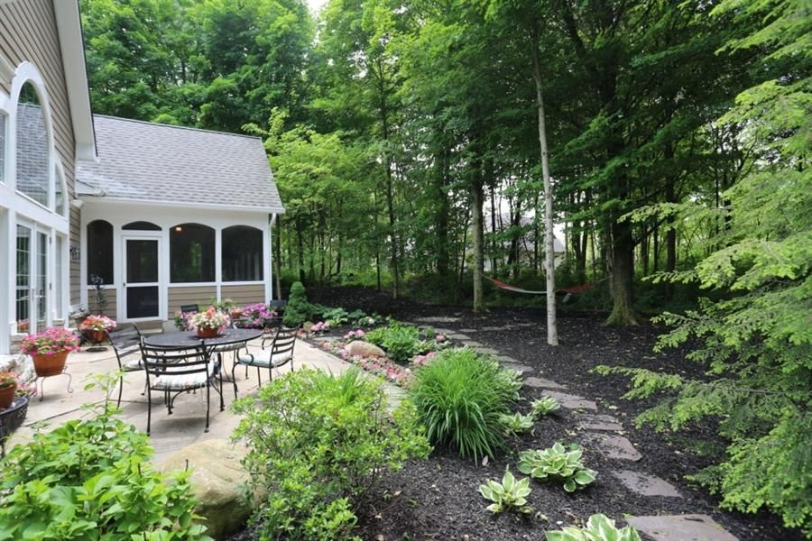 Backyard landscaping on wooded lot google search for Landscaping ideas for wooded areas