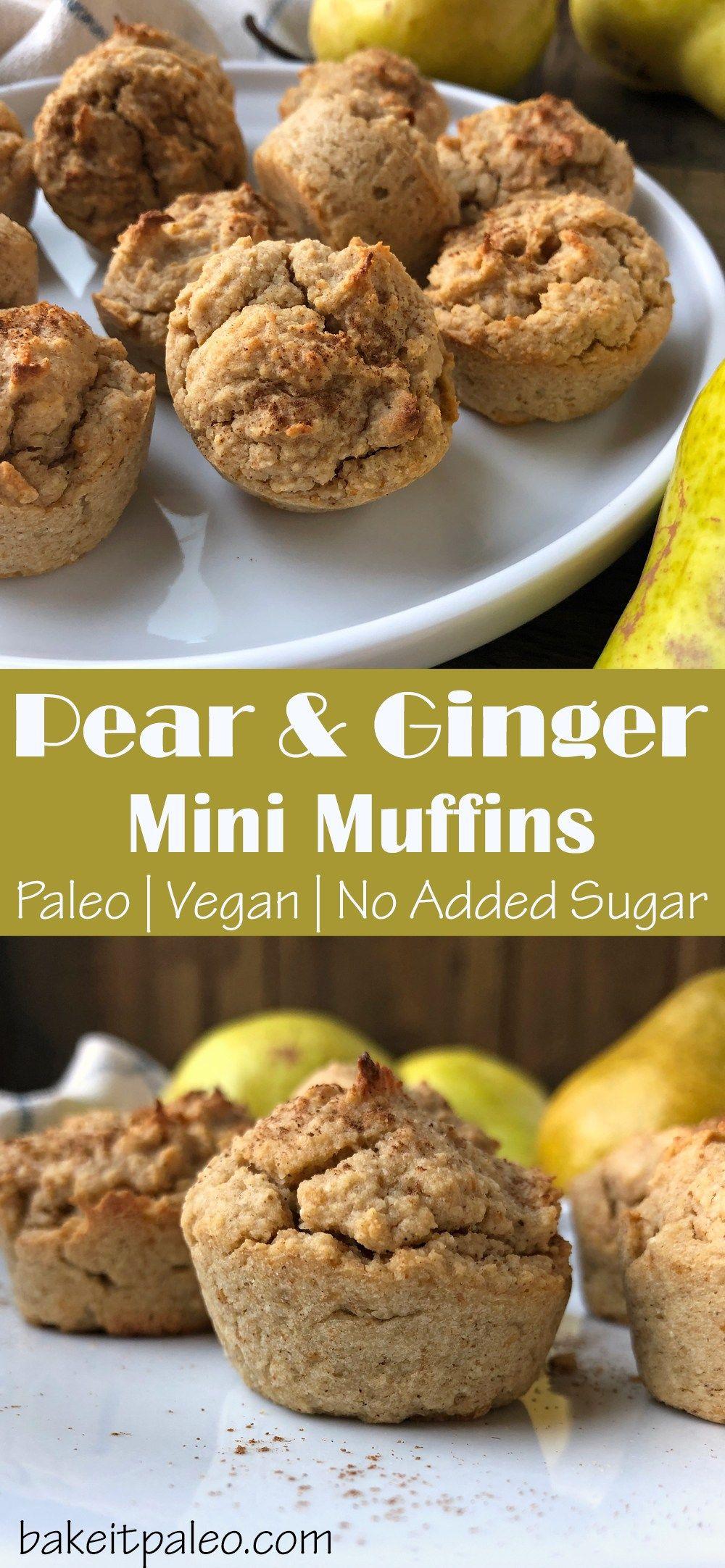 Pear Ginger Muffins Paleo Vegan Recipe Ginger Muffins