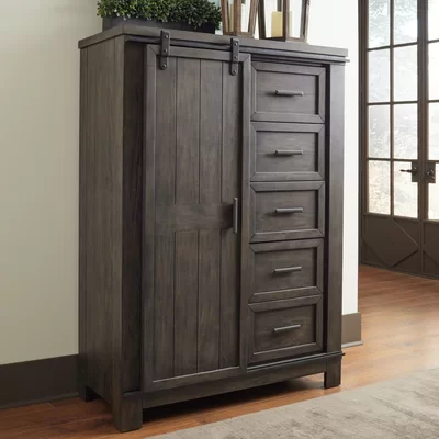 Durbin Sliding Door 5 Drawer Gentleman S Chest Liberty Furniture Furniture Sliding Doors