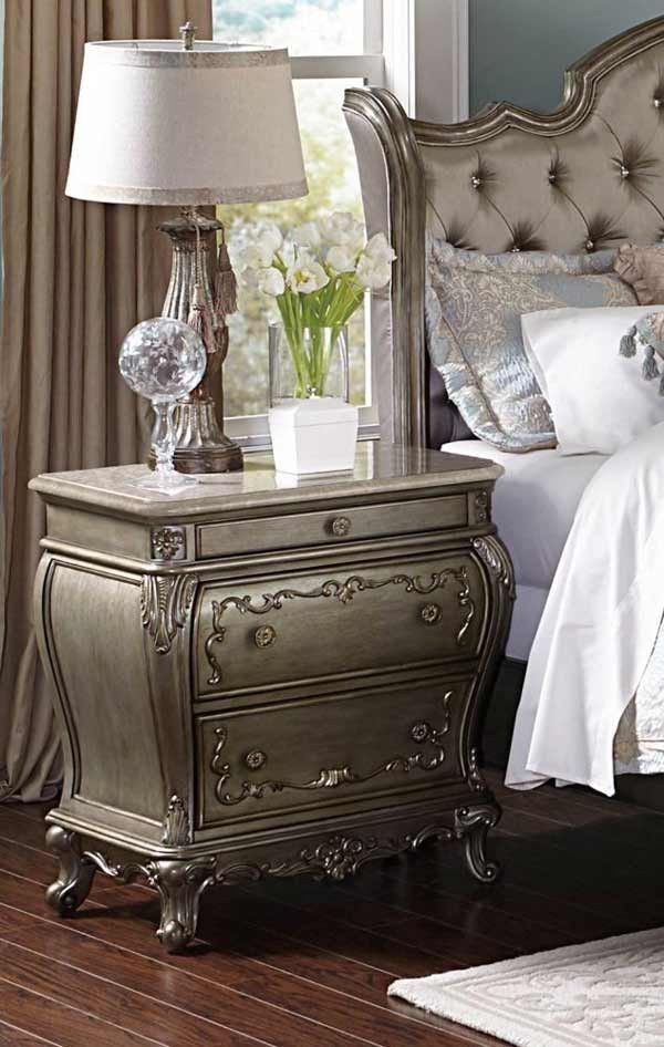 Best Homelegance Florentina Night Stand With Marble Top 400 x 300