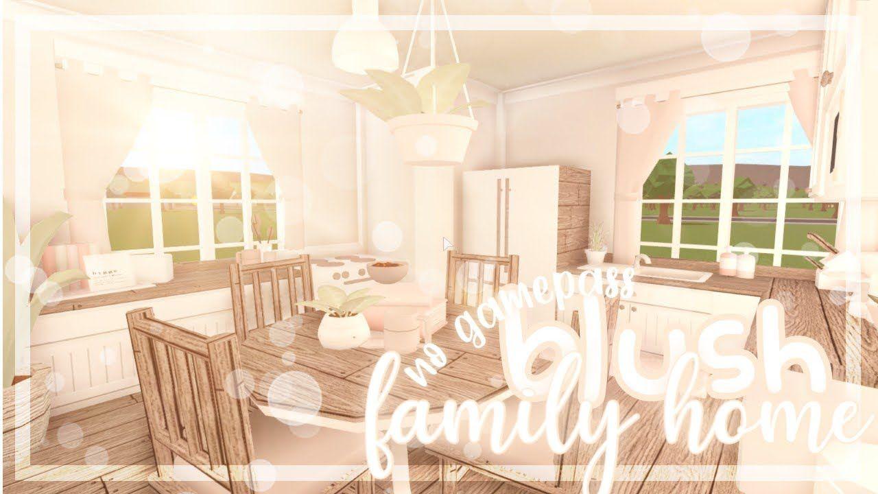 ୨ Bloxburg Aesthetic Blush Family Home 81k No Gamepasses Youtube Tiny House Layout House Layouts Home And Family