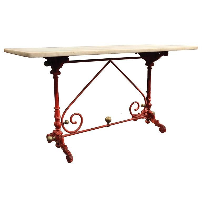 Antique French Pastry Table With Original Marble Top   From A Unique  Collection Of Antique And