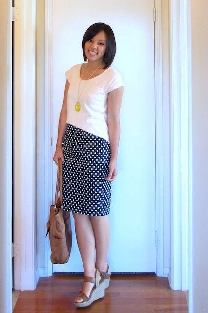 2a7efa22a4 The long awaited polka dot pencil skirt   Fashion I'm Into   Skirts ...