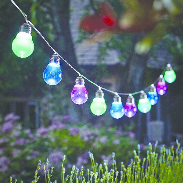 Garden String Lights Pinterest : Buy 10 solar bulb string lights: Delivery by Waitrose Garden in association with Crocus ...