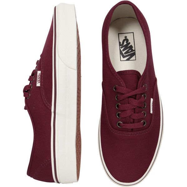Vans Authentic Tawny Port/Marshmallow ❤ liked on Polyvore | Vans ...