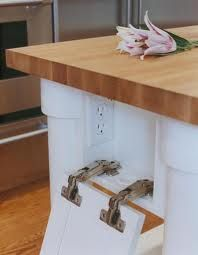 How To Hide A Power Outlet In Your Kitchen Island Hidden Kitchen Kitchen Outlets Home Kitchens