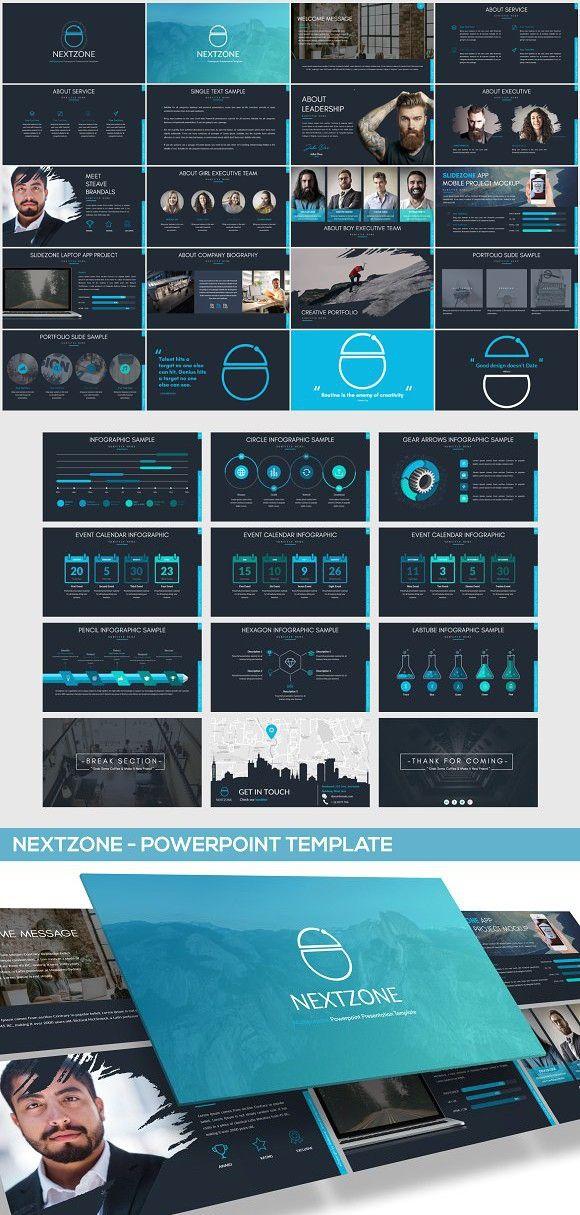 NEXTZONE - POWERPOINT TEMPLATE Presentation Templates Pinterest