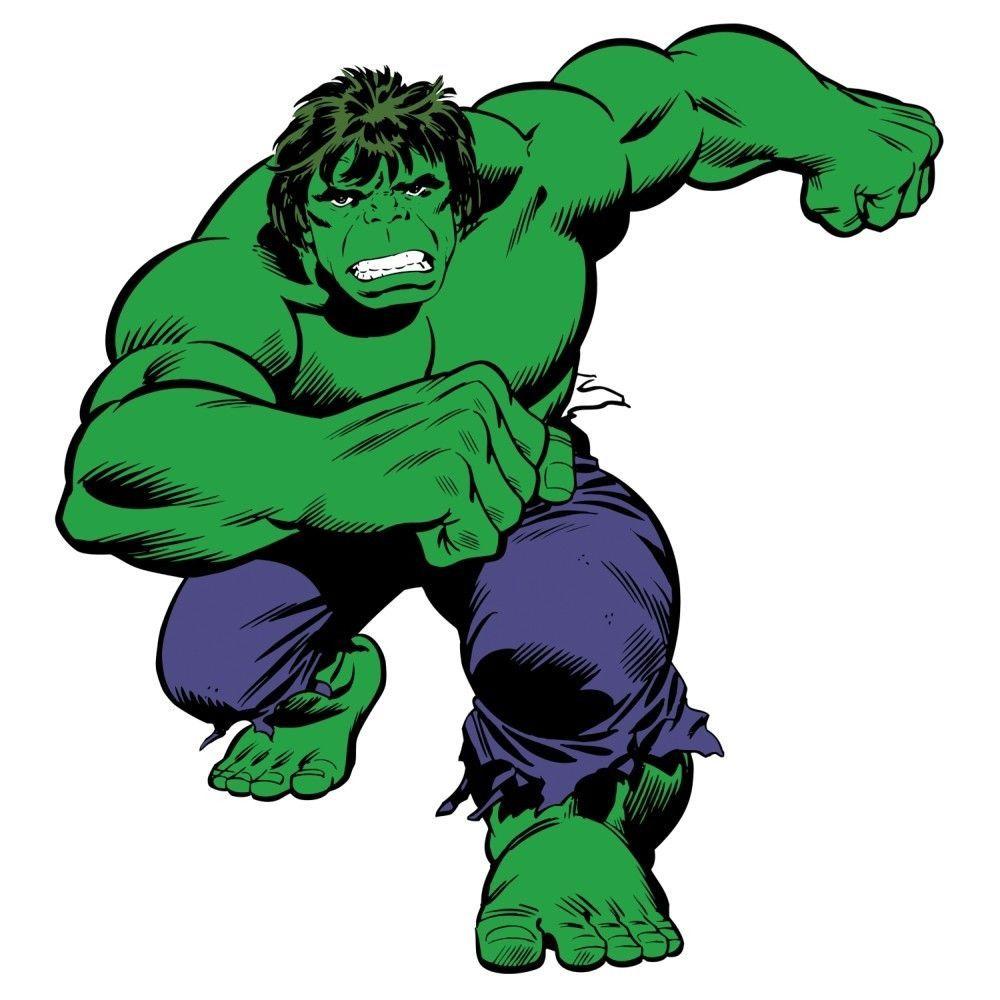 Incredible Hulk Classic Giant Wall Decal Marvel Desenhos Quadro Super Herois Livros De Quadrinhos