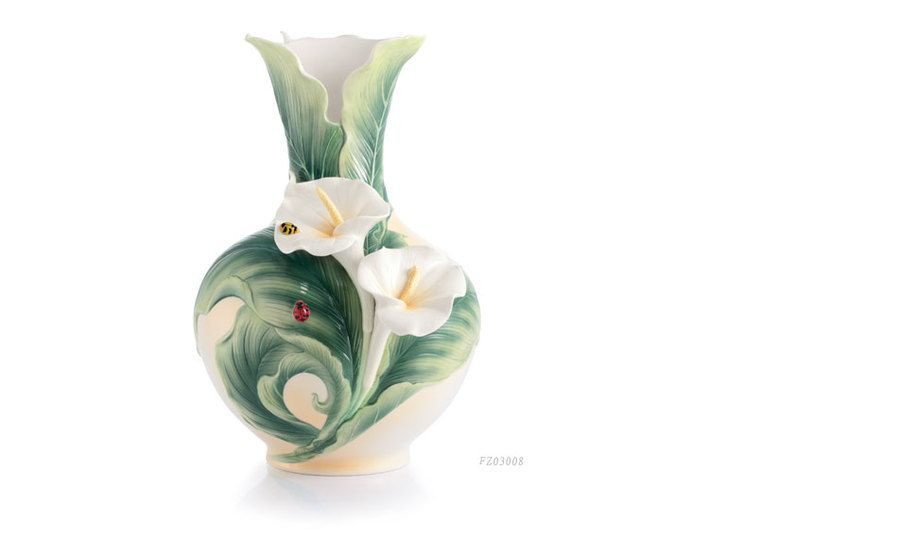 Another lovely vase from Franz Porcelain - Happy Reunion - Calla Lily with Ladybugs