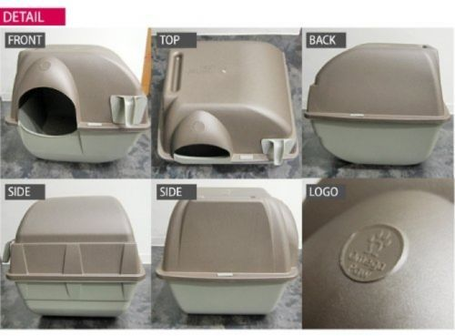 omega paw self cleaning cat litter box regular roll kitty taupe scoop automatic