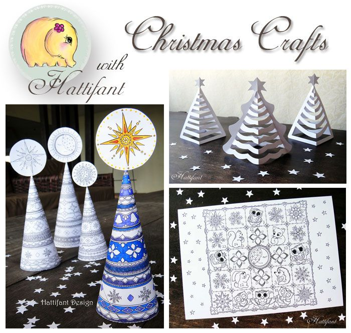 Hattifant S Christmas Crafts Welcome To Our Christmassy Craft Page Enjoy And Have The Most Beautiful Christmas Ne Christmas Crafts Christmas Tree Art Crafts