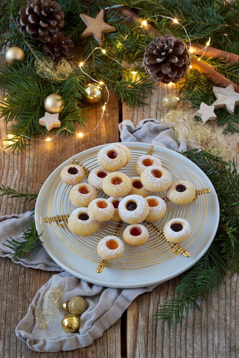 Weihnachtskekse Engelsaugen.Engelsaugen Husarenkrapfen