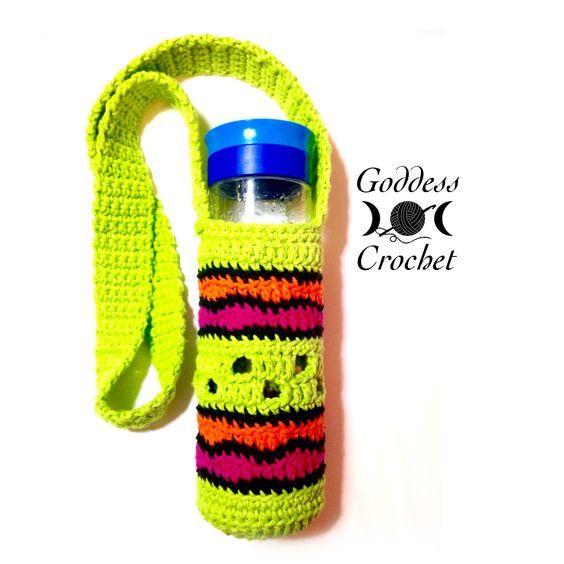 A Free Crochet Pattern For A Fun Water Bottle Holder Info