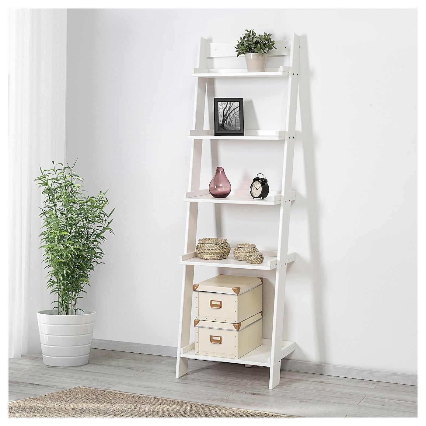 ikea hoghem white wall shelf in 2020 wall shelves on different types of interior walls id=30520