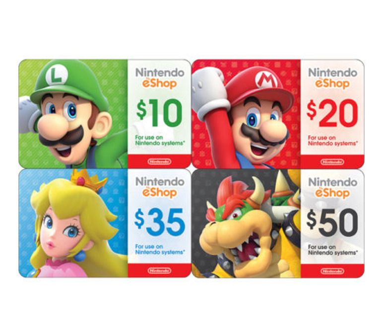 Nintendo eShop Digital Card - $10 $20 $35 $50 - Em