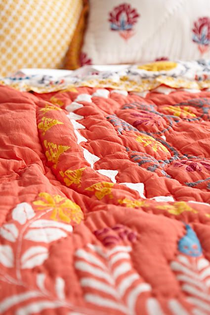 Zocalo Embroidered Quilt Embroidered Quilts Embroidered Bedding Quilts