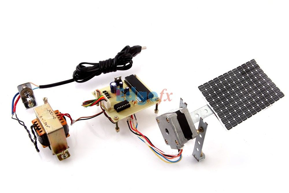 Sun Tracking Solar Panel This Project Uses A Solar Panel Coupled To A Stepper Motor To Track The Su Solar Panels Solar Tracker Electrical Engineering Projects
